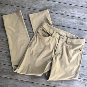 Lululemon ABC Pant 32x34 Sand Khaki Chino Pants